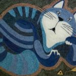 Такой вот кот: картина из ниток