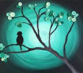 Дерево в ночи... интересный эффект