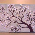 Нежные цветы сделаны из нежно-розовых пуговиц