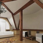 Даже опорные балки не недостаток... если правильно сделать дизайн мансардного этажа