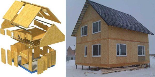 Строительство дома из СИП панелей при заказе домокомплекта похоже на игру в конструктор