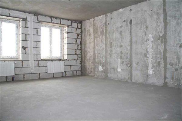 Квартира без отделки выглядит примерно так