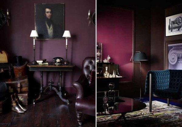 Фиолетовый цвет в интерьере: стильно, солидно, но... Надо очень постараться, чтобы в такой комнате хотелось оставаться