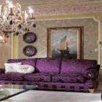 Золото и фиолетовый цвет - классическое сочетание в классическом интерьере