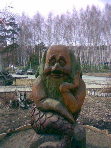 Деревянная скульптура для сада и приусадебного участка - талант...