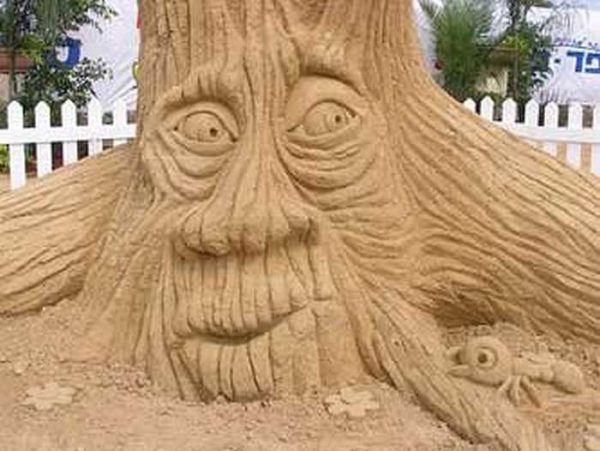 Такой себе лесовик из засохшего дерева