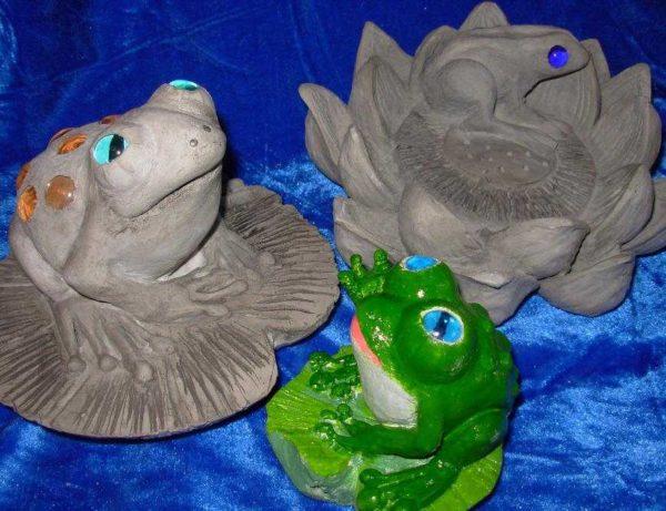 Лягушки готовы к покраске