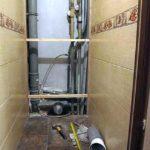 Шкаф в туалет в процессе изготовления