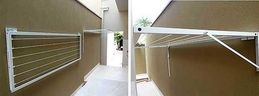 Как сделать вешалку для белья на балкон своими руками 91