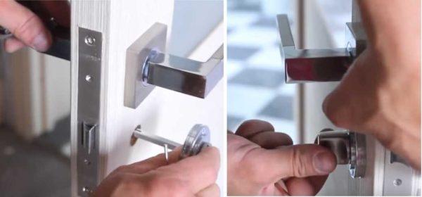 Как врезать замок в межкомнатную дверь: установка фиксатора замка