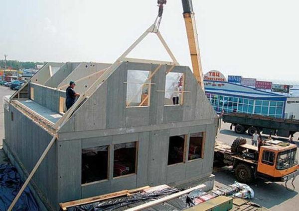 С использованием ЦСП строят каркасные дома