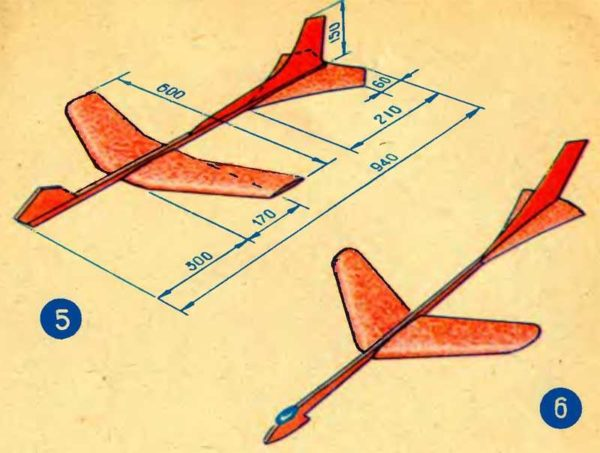 Самолет для флюгера. Этот можно сделать из фанеры и деревянной планки
