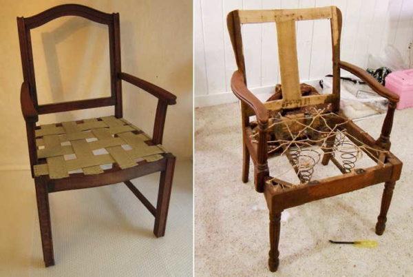 Обычные пружины можно заменить эластичными мебельными лентам