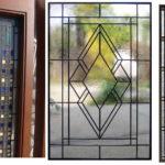 Геометрические рисунки на оконном стекле - стильно и всегда актуально