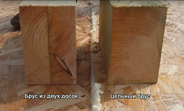 Если вы не ограничены в средствах, советуем использовать цельный брус из сухой строганной древесины