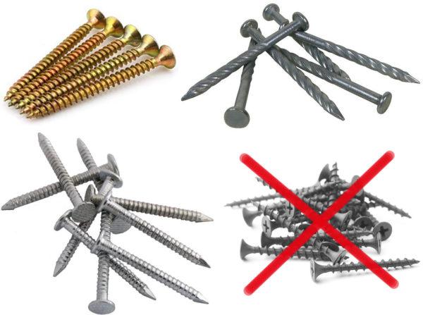 Саморезы и гвозди для СИП панелей