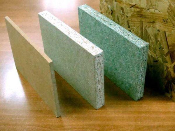 Один из недорогих листовых строительных материалов ДСП выглядит именно так