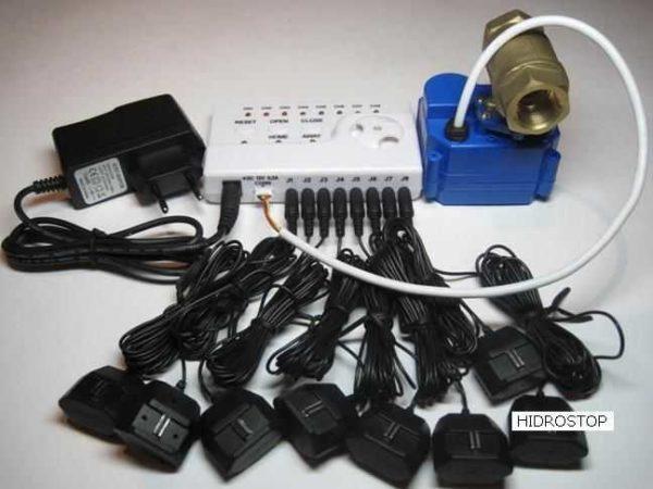 Защита от утечки воды может быть в комплекте, а можно собрать свою конфигурацию из компонентов