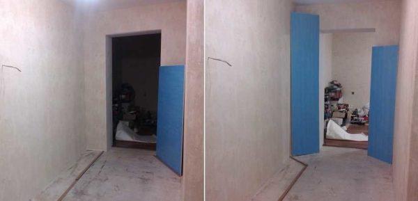 Вариант возможной установки двустворчатой межкомнатной двери