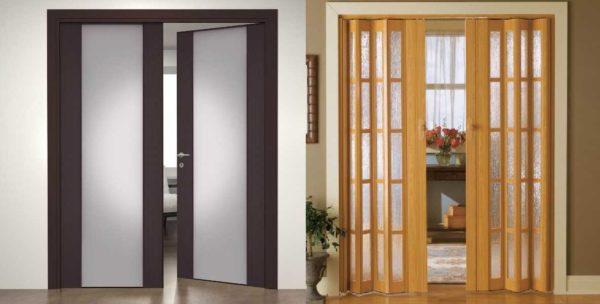 Распашные и двери гармошка - два варианта открывания из возможных