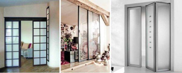 Разные виды 2 створчатых дверей