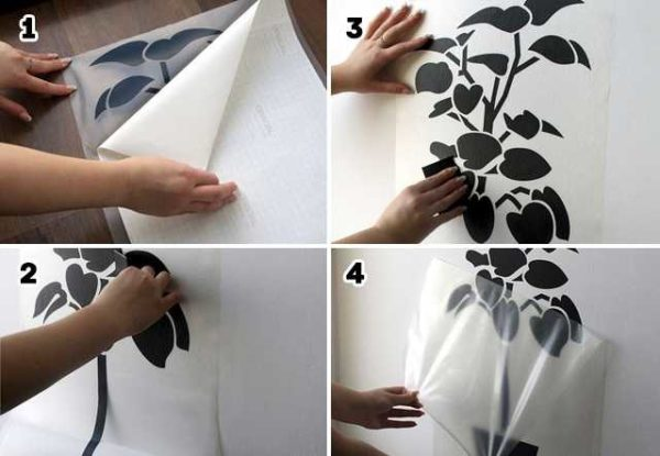 Как наклеить виниловые наклейки на стену - пошаговые фото