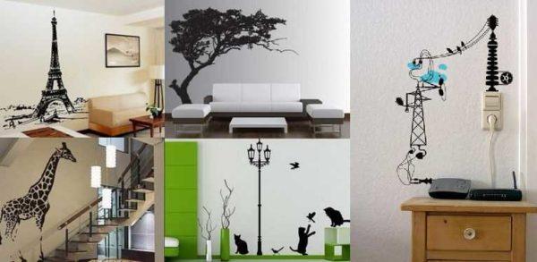 Наклейки на стену - быстрый способ изменить дизайн