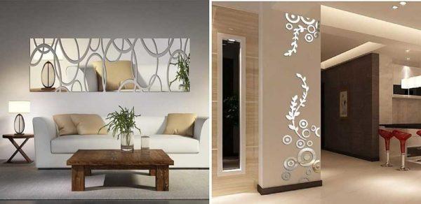 Зеркальные акриловые наклейки на стену