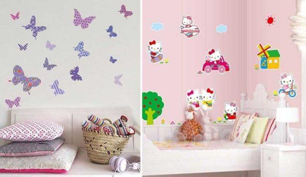 Маленькие фрагменты клеить проще: популярные бабочки и герои мультиков (Китти)