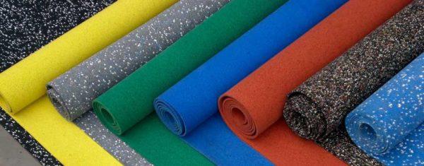 Резиновое покрытие для детских площадок в виде рулонов