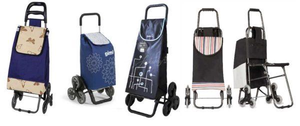 Хозяйственная сумка-тележка с шестью колесами