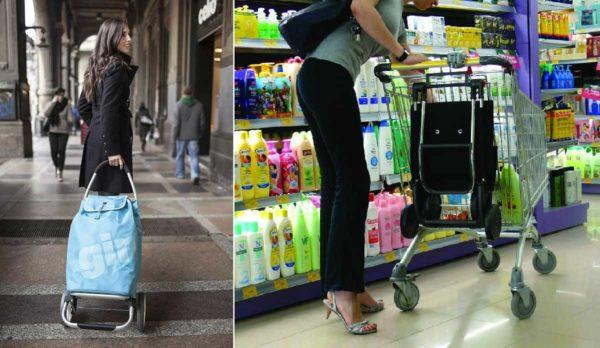 Хозяйственная сумка-тележка на колесах снова в тренде