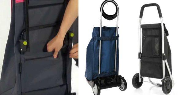 Как крепится сумка к тележке