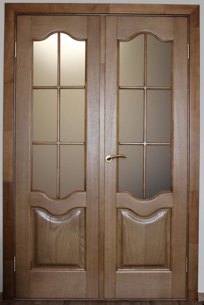 Двустворчатые двери из МДФ