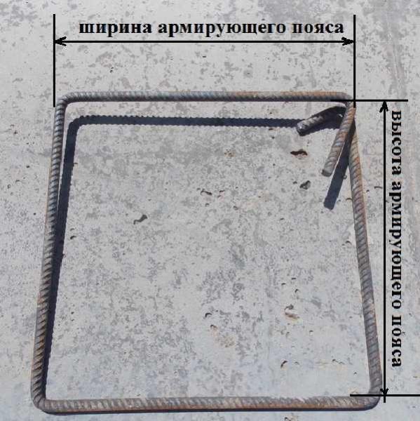 Для ускорения работы при вязке арматурного пояса используют хомуты