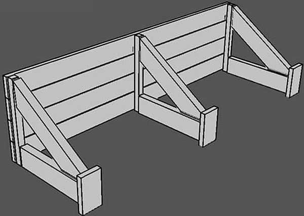 Щит просто устанавливается на уже {amp}quot;схватившийся{amp}quot; бетон, и упирается в края траншеи, но уже на другом уровне