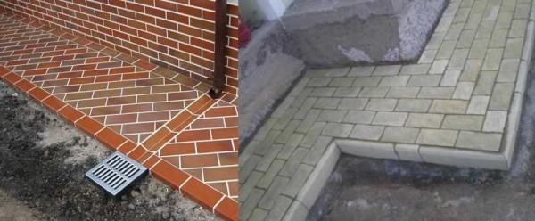 Еще один популярный тип защитного покрытия опалубки дома - тротуарная плитка или брусчатка