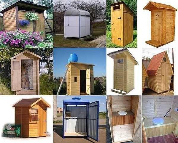 Дизайн дачного туалета может быть простым или замысловатым