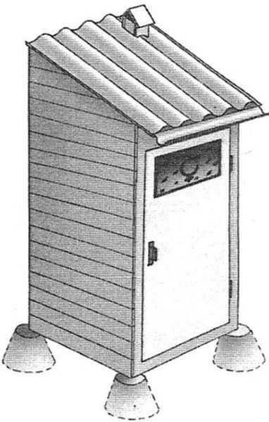 Основание под кабинку - столбики