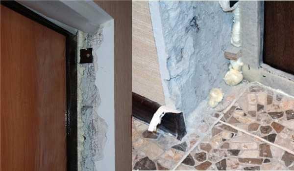 Такой вид имеют двери после установки - нужно делать откосы