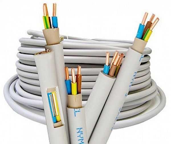 Один из вариантов электрического кабеля в тройной изоляции (NYM)
