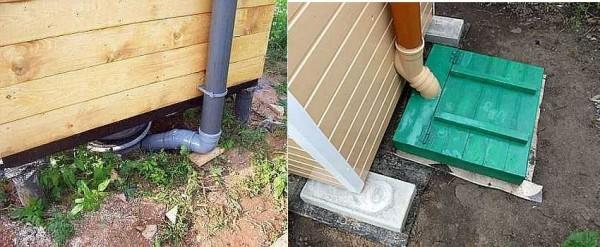 Как вывести трубу из выгребной ямы или емкости для отходов