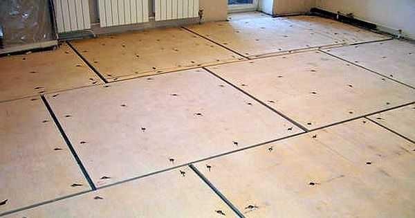 Так выглядит старый деревянный пол, подготовленный под укладку ламината