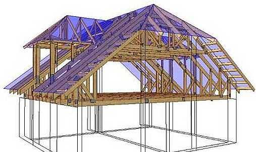 Мансардная полувальмовая крыша. Организация ее стропильной системы