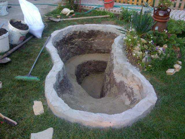 Борта приподняты: выложены поставленные торчком и закопанные на половину высоты кирпичи, сверху забетонированы