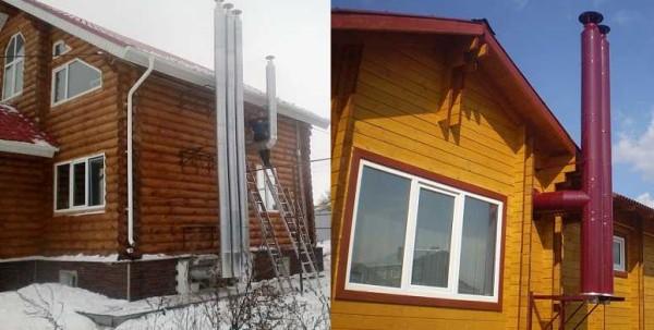 Вытяжная вентиляция в ванной и туалете частного дома может быть организована таким способом