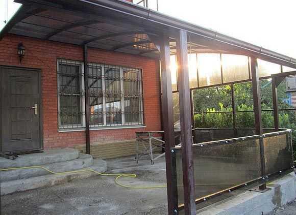 Веранда металлический гараж г клин купить гараж