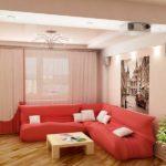 Цветовой акцент - обивка дивана