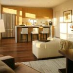 Повторение текстур и цветов - один из способов создания гармоничного интерьера в квартире-студии