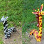 Зебра и жираф сделаны по похожему принципу - разница в длине шеи и окраске